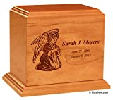 Angel Personalized Wood Infant Urn