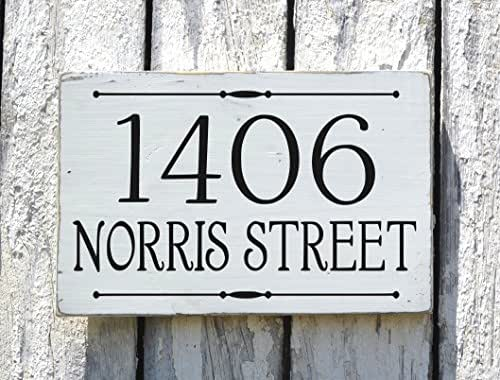 Hand painted address signs customized house for Front door number plaques