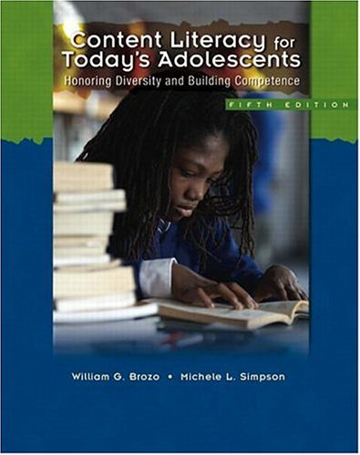 Content Literacy for Today's Adolescents: Honoring...