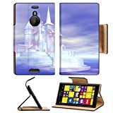 Luxlady Premium Nokia Lumia 1520 Flip Case digital visualization of a castle IMAGE 21256406 Pu Leather Card Holder Carrying