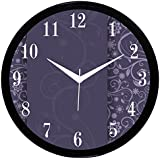 "IT2M 11"" Round Traditional Wall Clock For Home / Living Room / Bedroom With Glass (Non Ticking, Sweeping Movement)"
