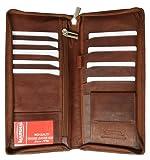 Leather Zipper Travel Credit Card Passport Wallet