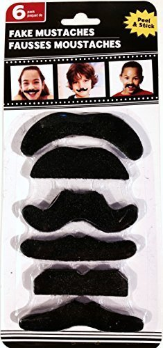 Fake Mustaches with Adhesive - 1