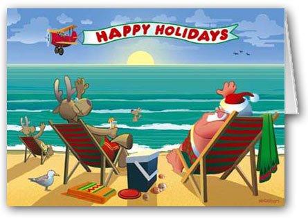 Beachside Enjoyment Christmas Card 12 cards/