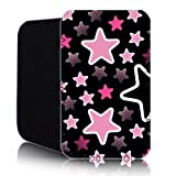 STARS Pattern [ PINK ] for Nokia Lumia 820 (L) Shock Resistant Neoprene Slip Pouch (Case, Cover)