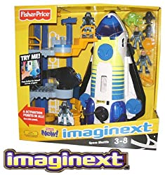FISHER PRICE IMAGINEXT SPACE SHUTTLE PLAYSET LIGHTS & SOUNDS Playset
