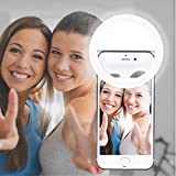 MAIKEHIGH 36 LED Selfie Ring Light, Supplementary Photo Shoot Selfie Night Light Darkness Selfie Enhancing for Perfect Face Photography for Smart Phones. (White)
