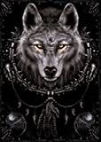 Posters: Gothic Poster - Spiral, Wolf Dreamcatcher (36 x 24 inches)