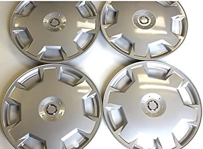 Aftermarket ABS Plastic Wheel Cover Nissan Versa 15 Inch Silver Lacquer 4 Pack