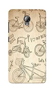 KnapCase Love Bike Designer 3D Printed Case Cover For Lenovo Vibe P1