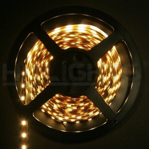 Le 12v Flexible Led Strip Lights 3000k Warm White 300: HitLights Weatherproof Warm White SMD5050 High Density LED