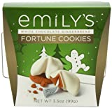 Emilys Fortune Cookies, White Chocolate with Gingerbread, 3.5 Ounce