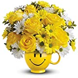 Teleflora's Be Happy® Bouquet with Roses - Thinking of You Flowers
