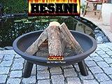 Hesani 80 cm Feuerschale FSTT800 800 mm Feuerkorb Feuerstelle Lagerfeuer Metallschale Pflanzschale von Hesani GmbH