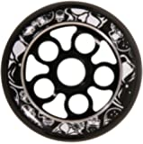 Madd Gear Aero Core 110-Black Wheel with Black Core/ White Print (White, 110-millimeter)