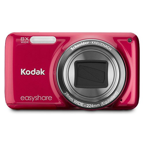 Christmas Kodak EasyShare M583 14 MP Digital Camera with 8x Optical Zoom and 3-Inch LCD - Red (New Model) Deals