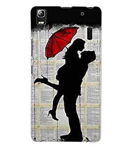 ColourCraft Loving Couple Design Back Case Cover for LENOVO A7000 TURBO