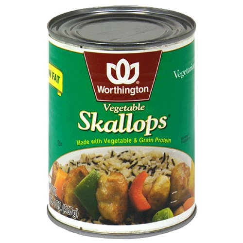 Worthington Vegetable Skallops, Low Fat, 20-Ounce Cans (Pack of 12)