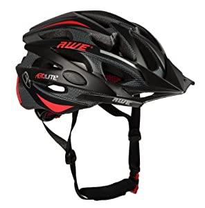 AWE AeroLite Men's Bicycle Helmet - Black/Red, Size 58-61