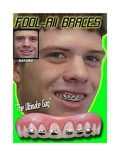 [BILLY BOB TEETH WITH BRACES FAKE funny joke fun brace face gag costume nerd Peoples Choice] (Costumes Braces)