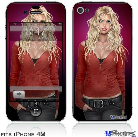 iPhone 4S Skin  Precious Pin Up Girl