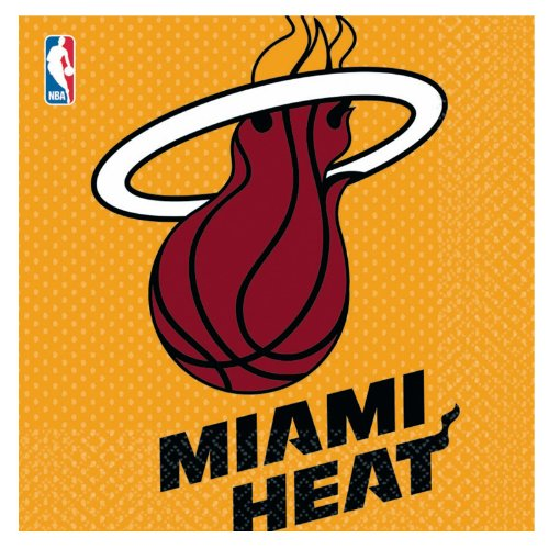 Miami Heat Basketball - Lunch Napkins Party Accessory