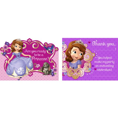 Disney Junior Sofia the First Invitations & Thank-You Postcards (8 each)