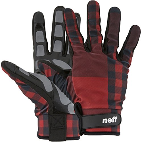 neff men 39 s chameleon pipe glove red plaid medium apparel accessories clothing accessories. Black Bedroom Furniture Sets. Home Design Ideas