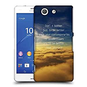 Snoogg Better than yourself Designer Protective Back Case Cover For SONY XPERIA Z3 COMPACT