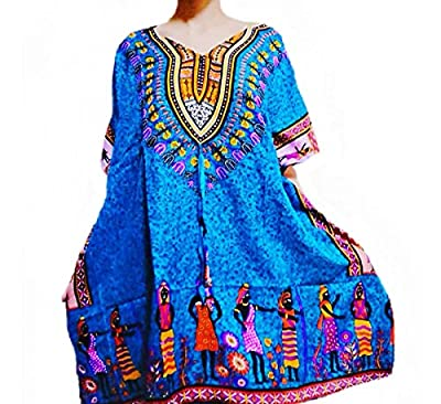 Jinda Brand Women's Kaftan African Dress Shirt Boho