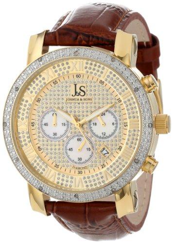 Joshua & Sons Men's JS-28-03 Diamond Chronograph Quartz Watch