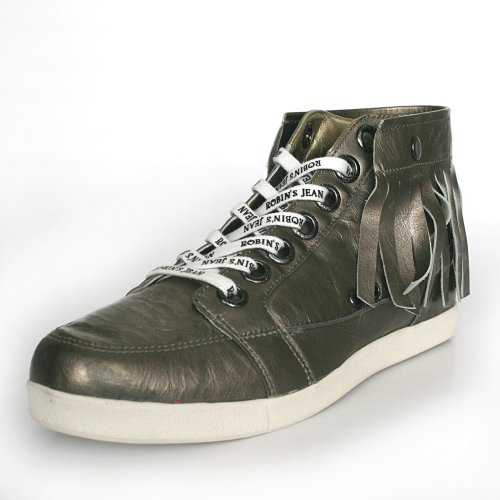 Robins Jean Fashion Sneakers Men Keith (10, Silver) front-158382
