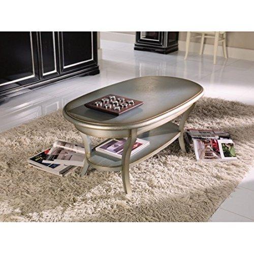 Estea Muebles–Mesa centro ovalado madera maciza