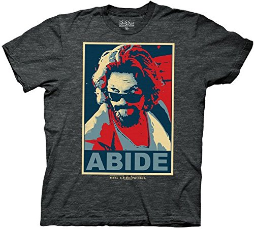 Big Lebowski Abide Mens Charcoal Heather T-shirt XXL