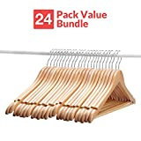 Wooden Suit Hangers - 24 Pack