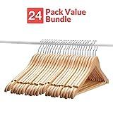 Wooden Suit Hangers - 24 Pack