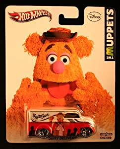 Hot Wheels 2013 The Muppets Fozzie Bear Dairy Delivery White/Red