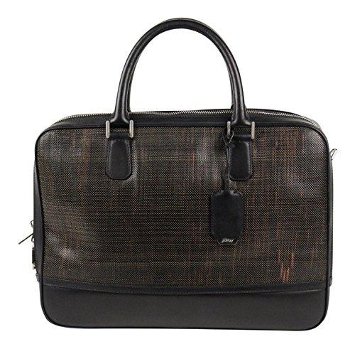 brioni-brown-black-braided-leather-briefcase-bag