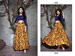 Bhavya Enterprise Benglori Silk Yellow Lehenga