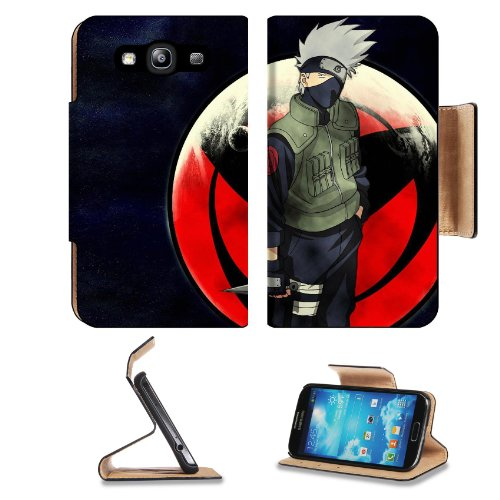 Naruto Hatake Kakashi Sharingan Samsung Galaxy S3 I9300 Flip Cover Case With Card Holder Customized Made To Order Support Ready Premium Deluxe Pu Leather 5 Inch (132Mm) X 2 11/16 Inch (68Mm) X 9/16 Inch (14Mm) Liil S Iii S 3 Professional Cases Accessories