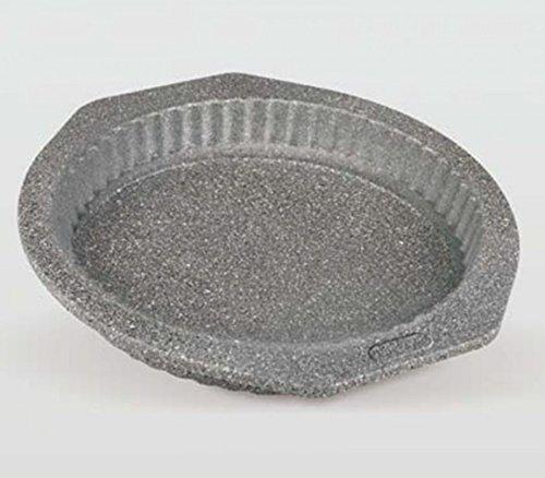 Life Style - Moule à Tarte - Bouclés - Acier au Carbone - Anti-Adhésif - Ø 25 cm - Granite
