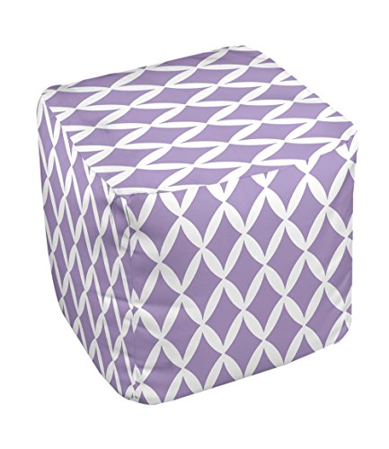 E by design FG-N1C-Heather_Purple-18 Geometric Pouf