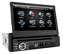 Power Acoustik PTID-8920 In-Dash DVD AM/FM Receiver with 7-Inch Flip-Out Touchscreen Monitor with USB/SD Input