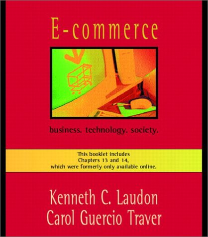E-commerce: Business. Technology. Society.