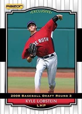 2008 Razor Signature Series WHITE Baseball Card # 41 Kyle Lobstein (Prospect - RC - Rookie Card) Tampa Bay Rays - MLB Baseball Trading Card