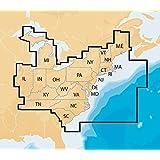 Navionics Plus Regions East Marine and Lake Charts on SD/MSD