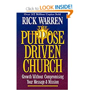 book report on the purpose driven church The purpose driven life and other similar series attempt to provide a short-cut and may encourage new believers to think that once they have achieved the twelve steps they can cease striving after god i gave up on this book half way through and threw it away as i felt as if it was a deception.