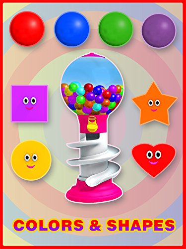 Colors and Shapes for Children to Learn with Gumball Machine