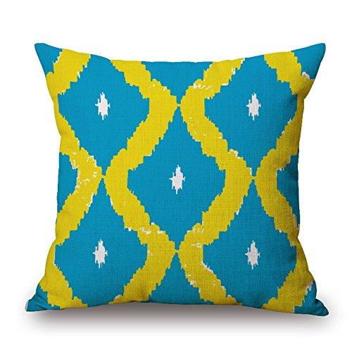 Throw Pillow Covers Of Geometric 16 X 16 Inches / 40 By 40 Cm,best Fit For Birthday,bench,teens,home Theater,floor,couch Twin Sides