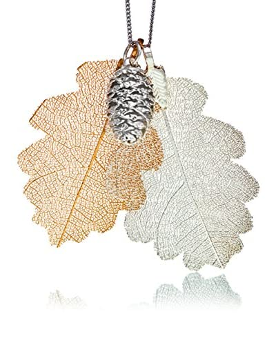 Ana Natural Leaves Conjunto 17 Oro / Plata